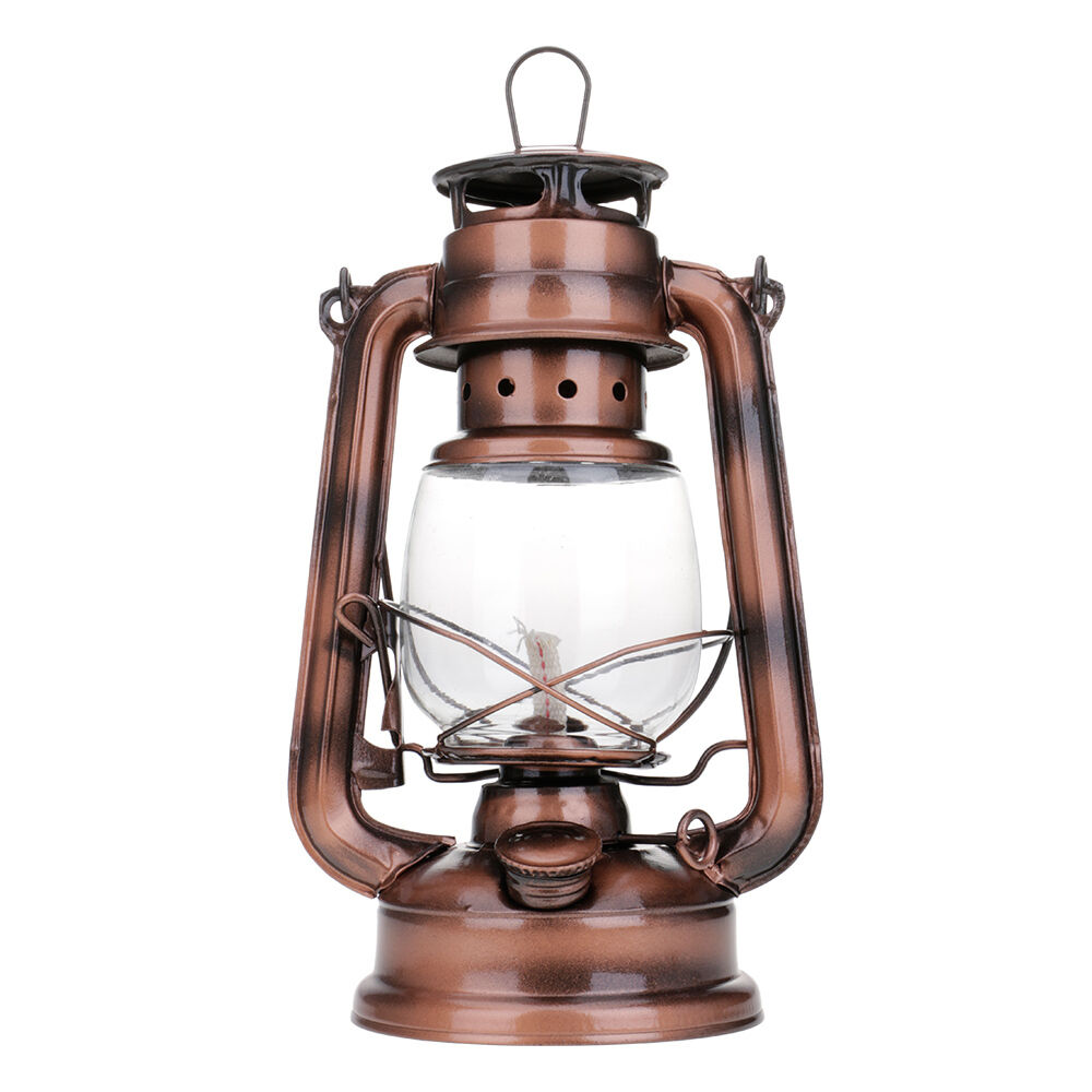 Bronze Retro Oil Lantern Outdoor Camping Kerosene Light