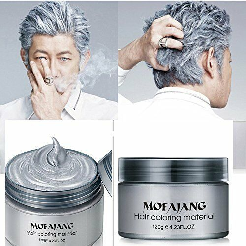 Professional Silver Grey Hair Wax Hair Pomades Natural