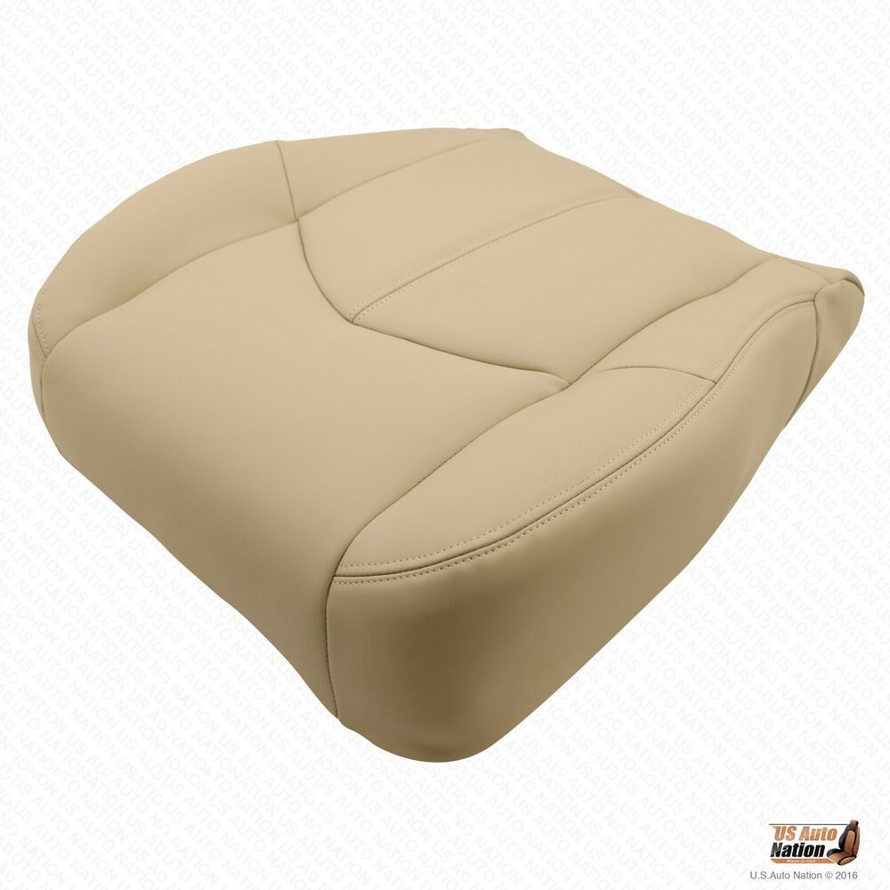 Driver Bottom Quot Synthetic Leather Quot Seat Cover Tan Fits 1999
