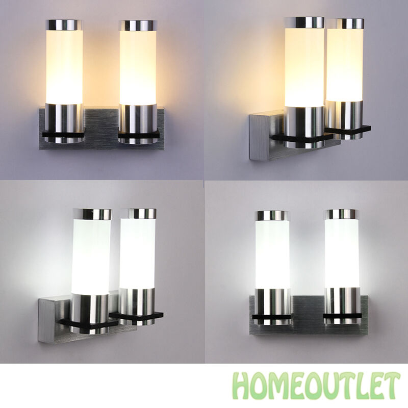 Warm white modern sconce wall light fitting polished chrome glass warm white modern sconce wall light fitting polished chrome glass lamp uk ebay mozeypictures Image collections