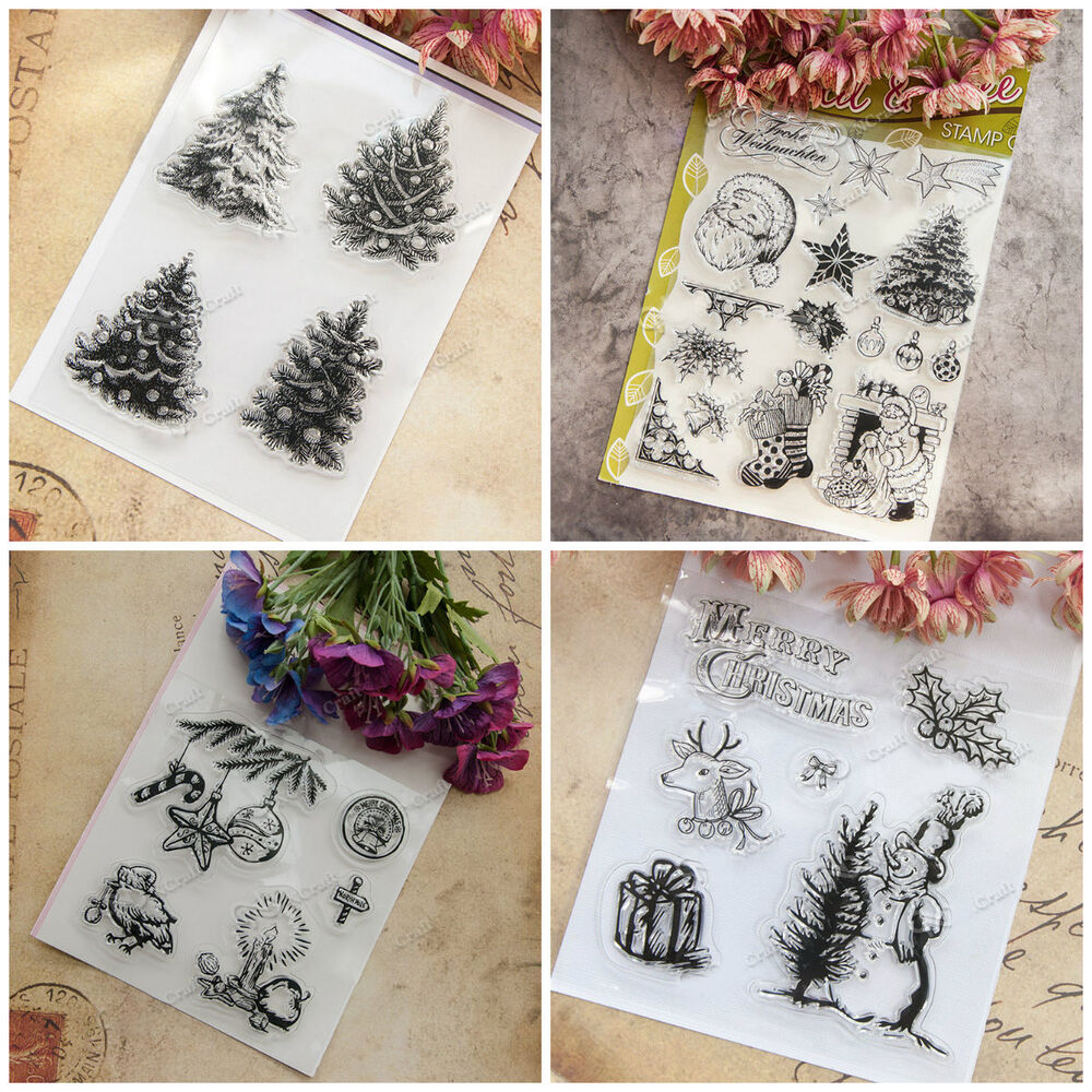 DIY Christmas Transparent Silicone Clear Rubber Stamp ...