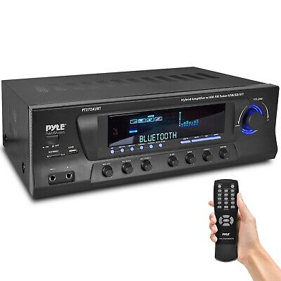 Pyle PT272AUBT 300 Watt Stereo Amplifier Receiver USB/SD,Bluetooth AM-FM Tuner