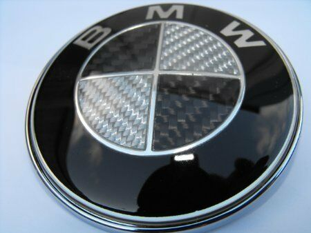 bmw carbon fiber emblem hood roundel e46 e60 e61 e90 e91 e70 e53 ebay. Black Bedroom Furniture Sets. Home Design Ideas