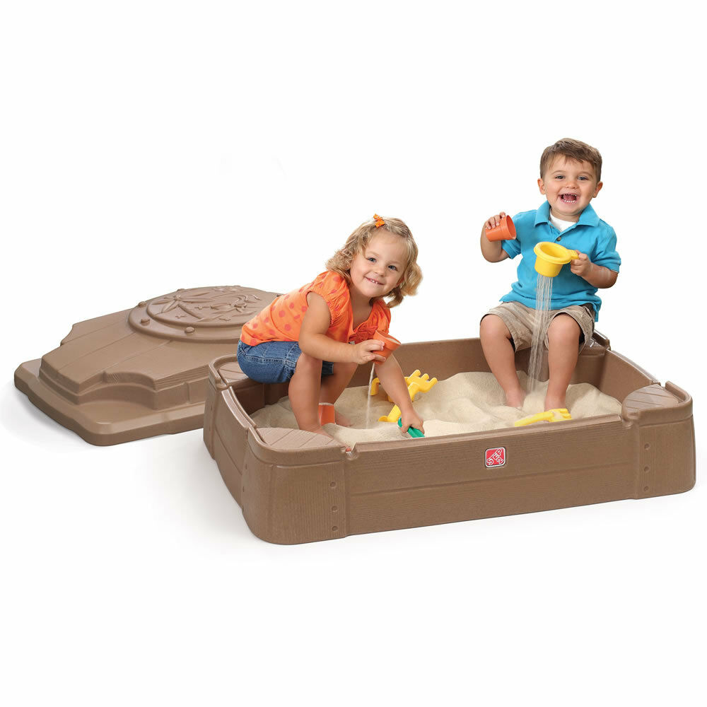 Toys For Sandbox : Step play store sandbox pit lid kids cover outdoor toys