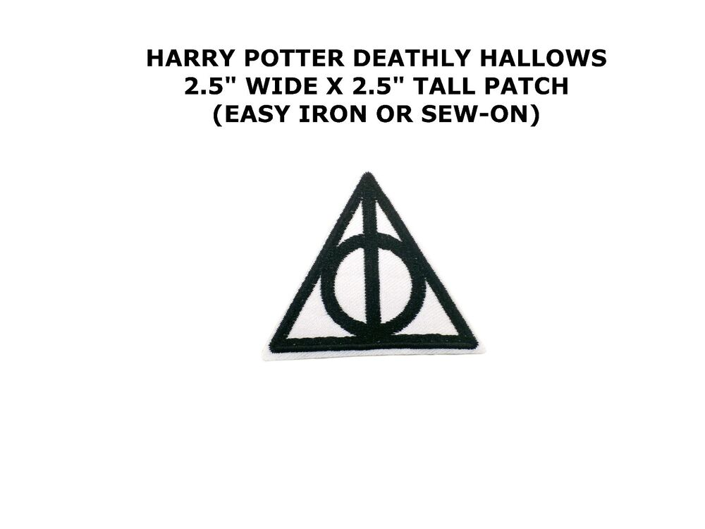 Harry Potter Deathly Hallows Logo Embroidery Iron On Patch Badge