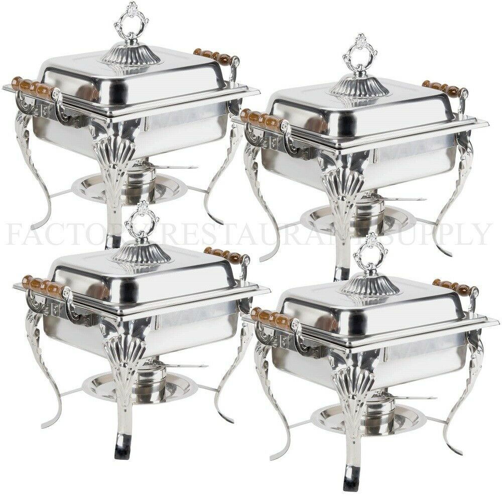 4 PACK Catering Classic STAINLESS STEEL Chafer Chafing ...