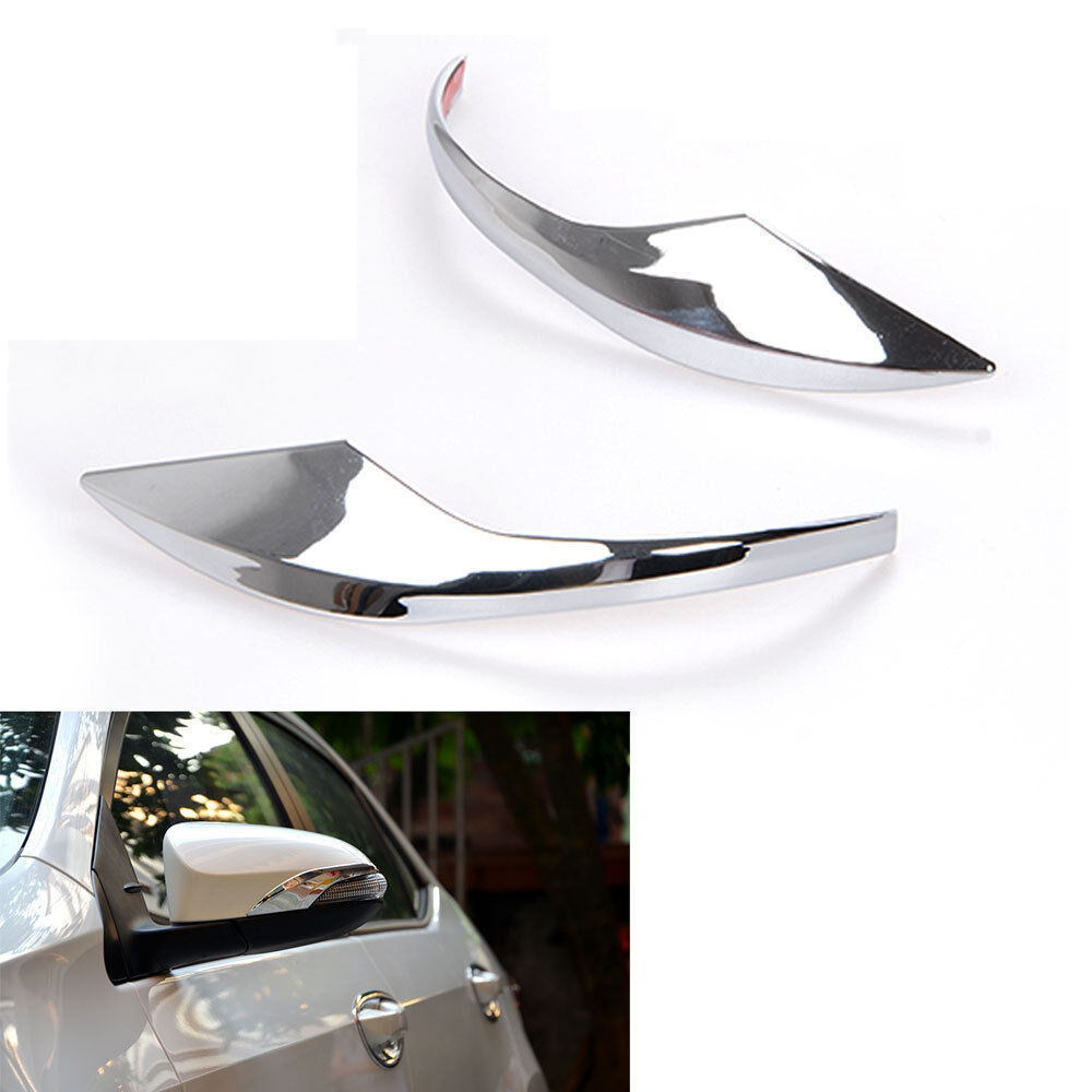 Chrome Car Side Door Rearview Mirror Cover Trim Mirrors