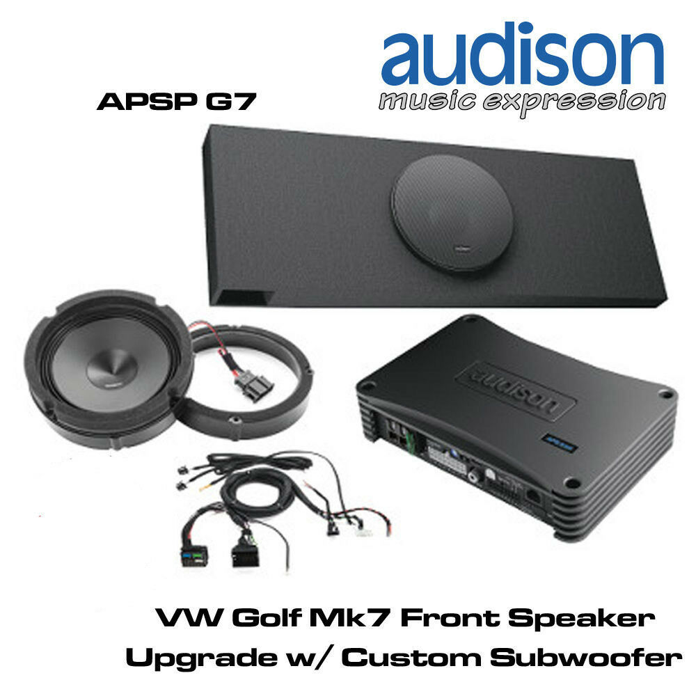 audison apsp g7 vw golf mk7 front speaker subwoofer. Black Bedroom Furniture Sets. Home Design Ideas