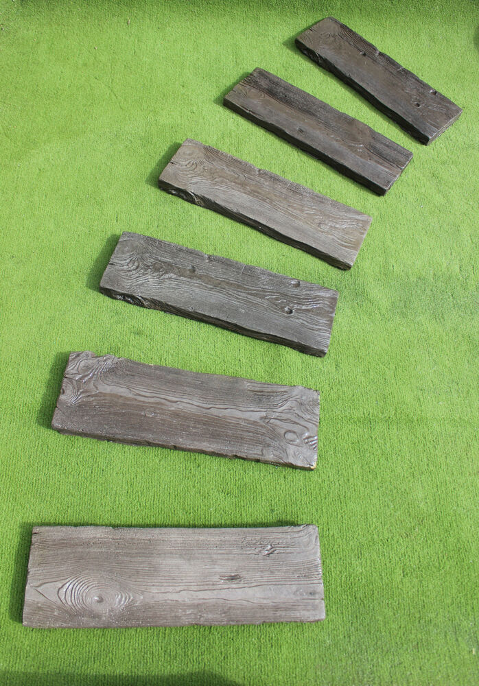 Decorative Paving Company : Railway sleeper concrete decorative paving stepping