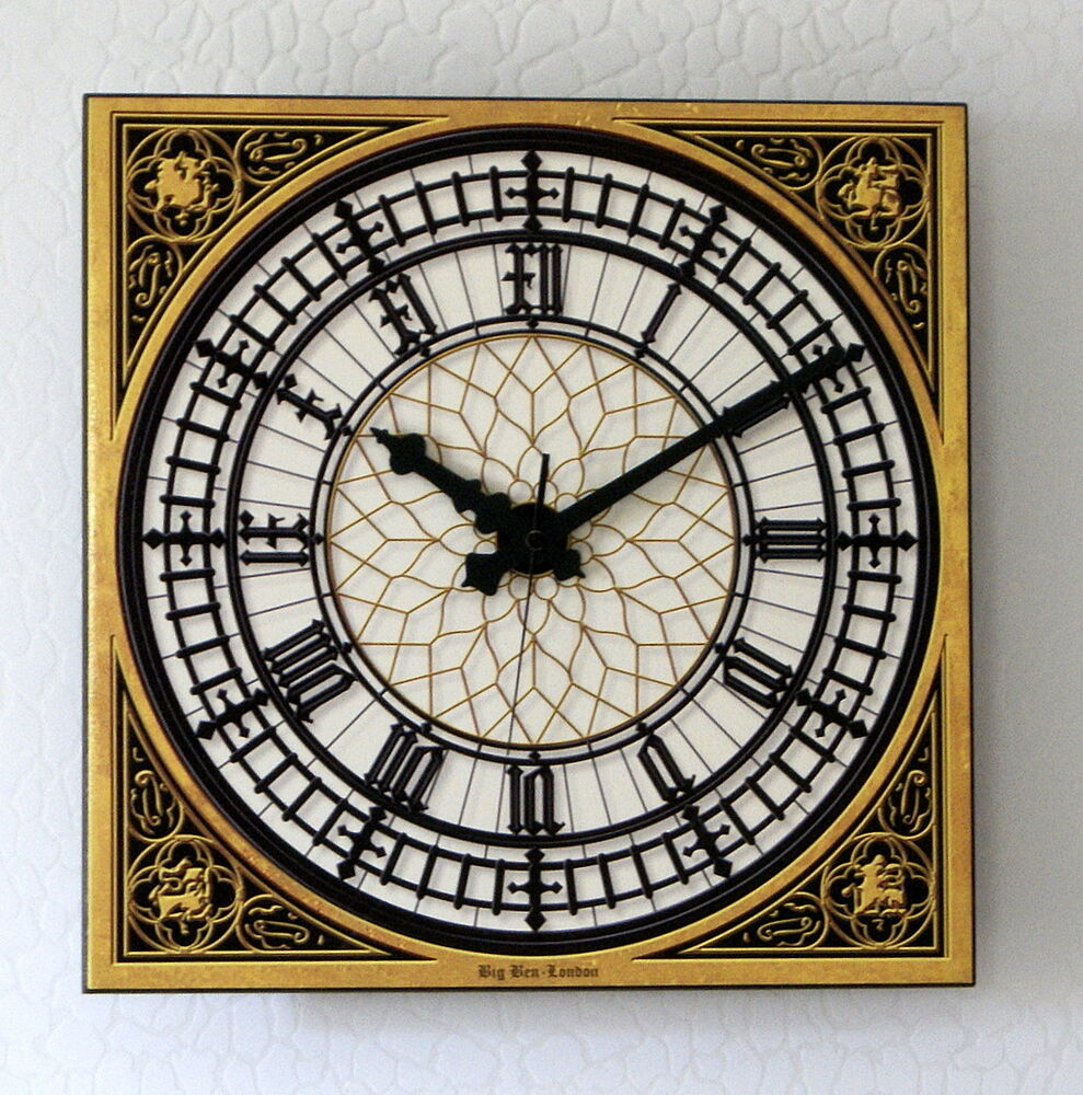 big ben uhr westminster london funk wanduhr 33 x 33 cm 3d keramik auch in xxl ebay. Black Bedroom Furniture Sets. Home Design Ideas