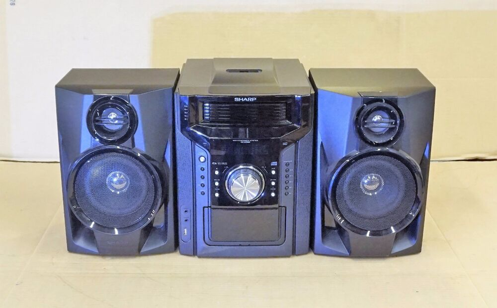 Sharp Cd Dh950p 240w 5 Disc Compact Stereo 2 Way Speaker