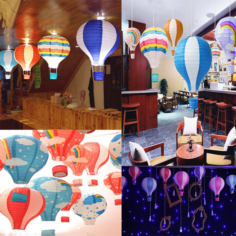 """12"""" Home Room Hot Air Balloon Paper Lantern Birthday Party"""