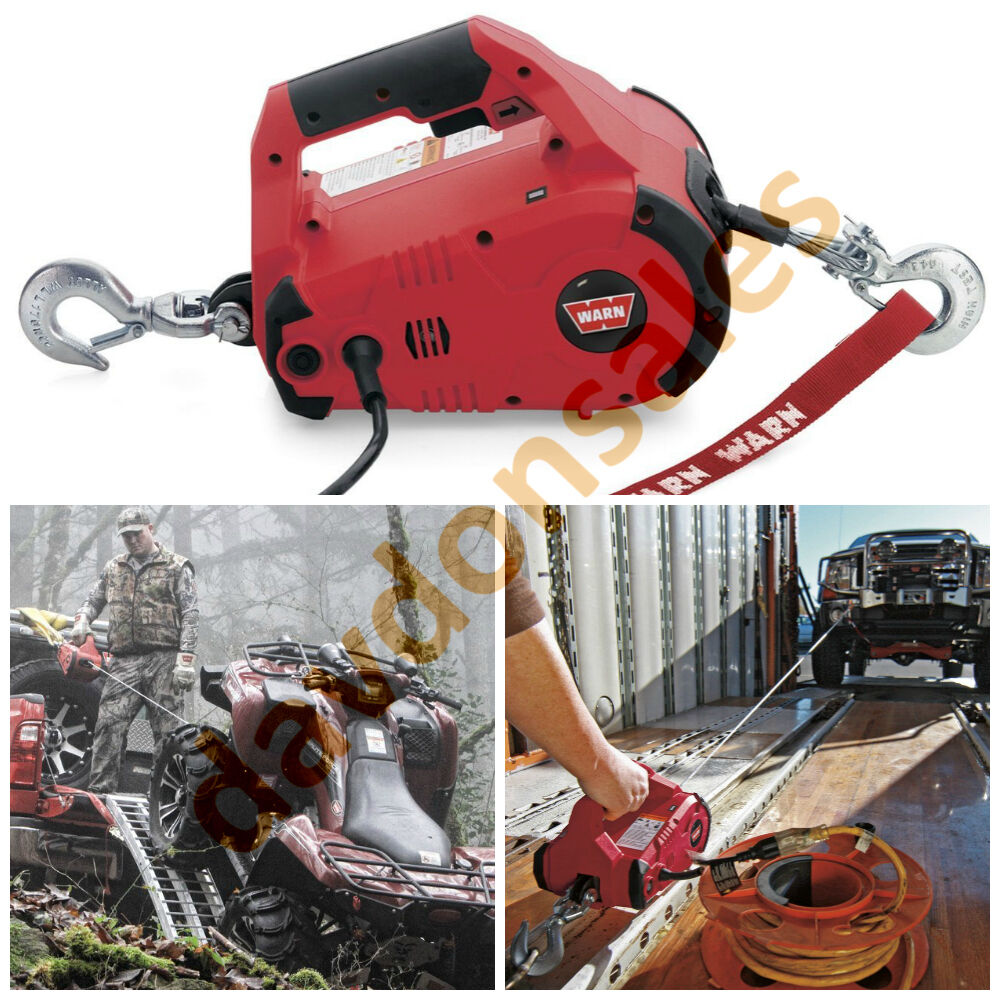 Warn Winch Come Along Puller Hoist Cable Electric Ton Lb