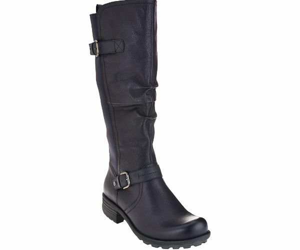 earth origins s penelope leather wide calf boots in