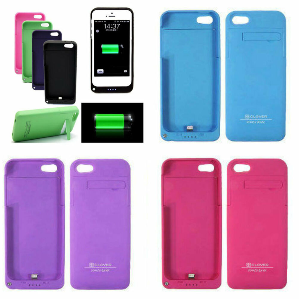 external battery power bank charger case for iphone 5 5s. Black Bedroom Furniture Sets. Home Design Ideas