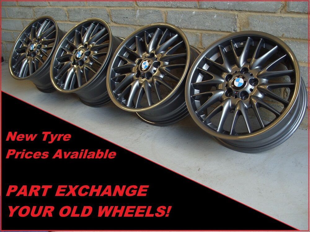 1854 Genuine 18 Quot Bmw Mv1 72m 3 Series E46 Gun Metal Grey Alloy Wheels Ebay