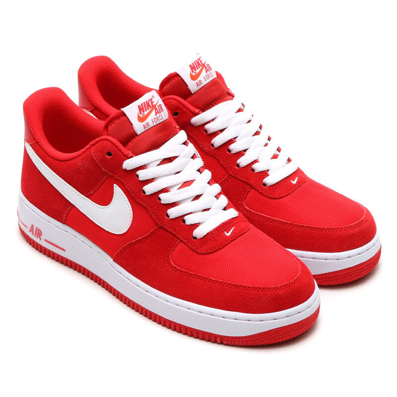 nike air force 1 low mens sneakers game red white 820266. Black Bedroom Furniture Sets. Home Design Ideas