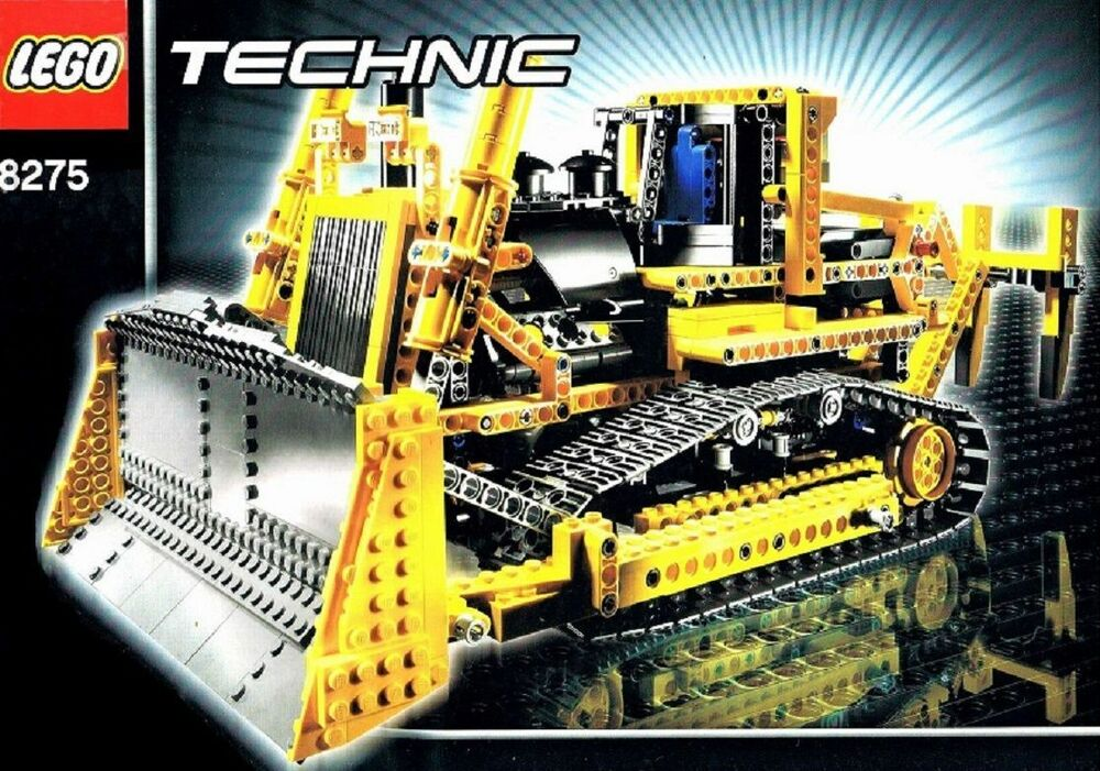 lego technic rc bulldozer mit motor 8275 und. Black Bedroom Furniture Sets. Home Design Ideas