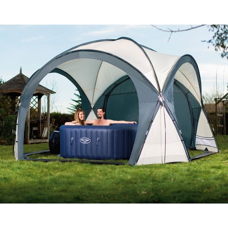 Bestway lay z spa inflatable hot tub garden outdoor dome - Abri de spa gonflable ...