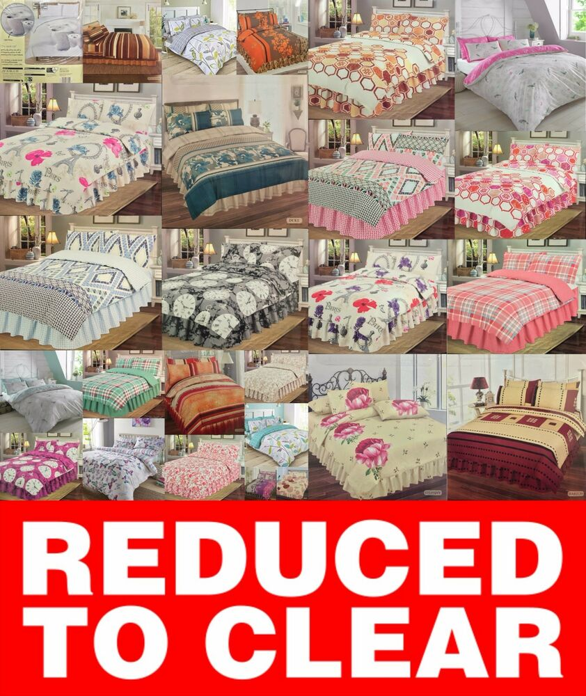 Clearance Bedding Great Prices Duvet Quilt Cover Bed