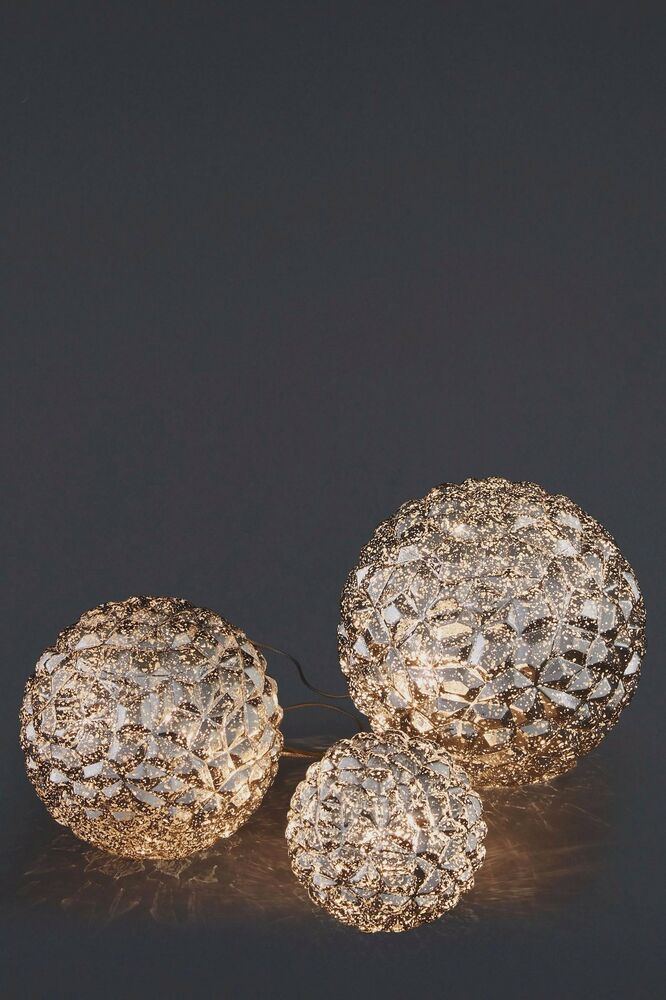 Next glamour table lamp orbs set of 3 ebay aloadofball Image collections
