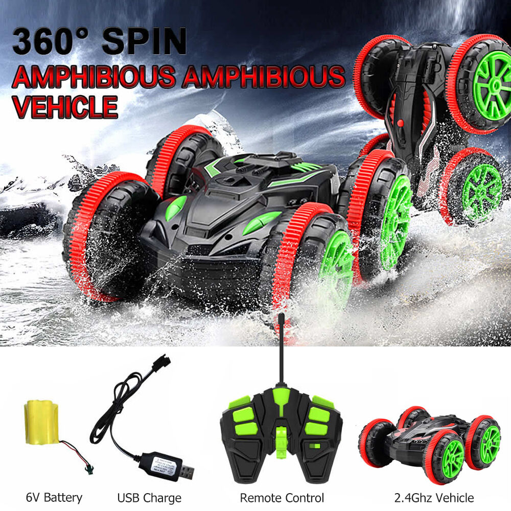 electric amphibious rc car land water remote control 2 4g. Black Bedroom Furniture Sets. Home Design Ideas