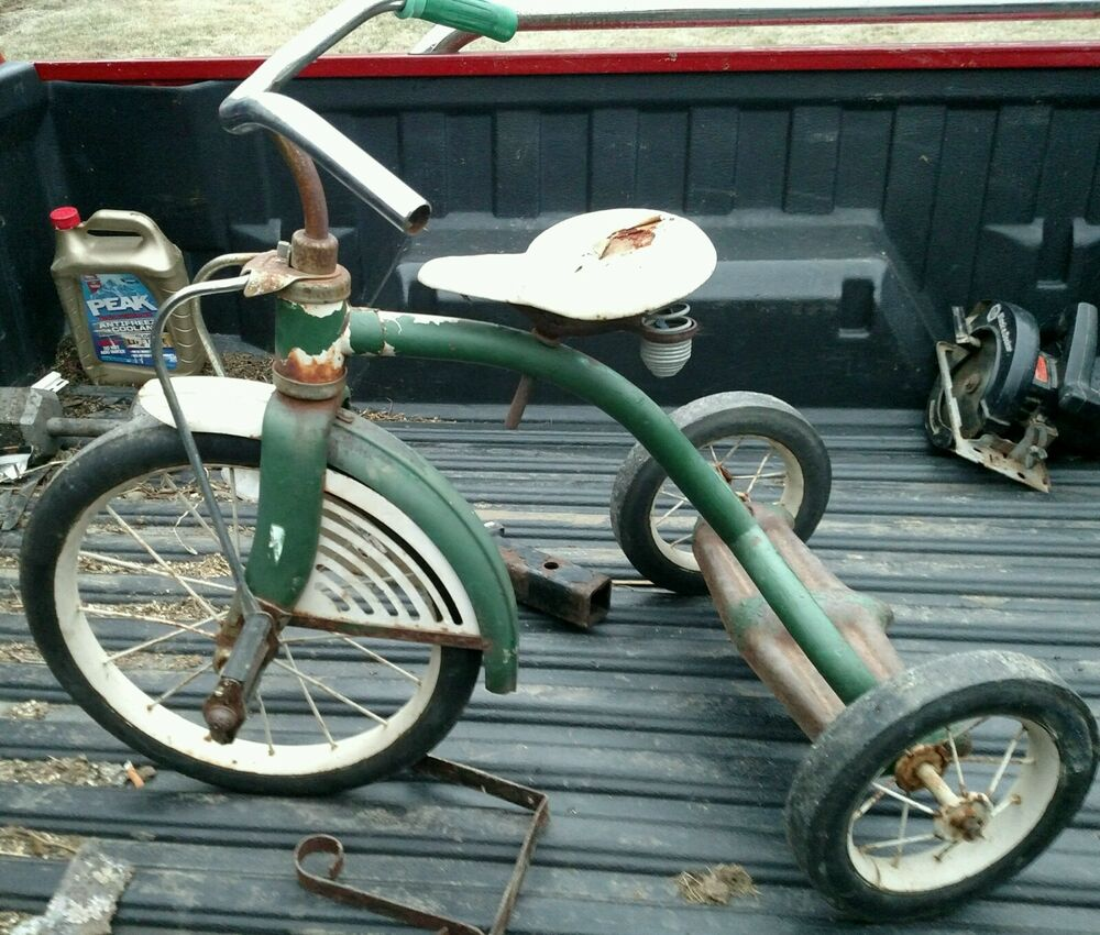 Makers Of Antique Tricycles : Vintage early s tricycle that was made by midwest