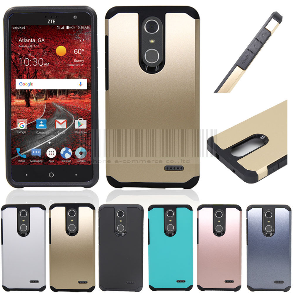 best service 91dc7 77b28 Hybrid Shockproof Armor Hard Bumper Protective Case Cover For ZTE Grand X 4  Z956 | eBay