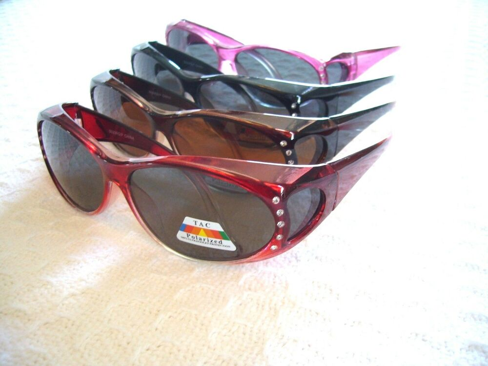 Details about WOMEN S POLARIZED SUNGLASSES W  RHINESTONES (FIT-OVER READERS  ) GLARE PROTECTION 57e188cc74