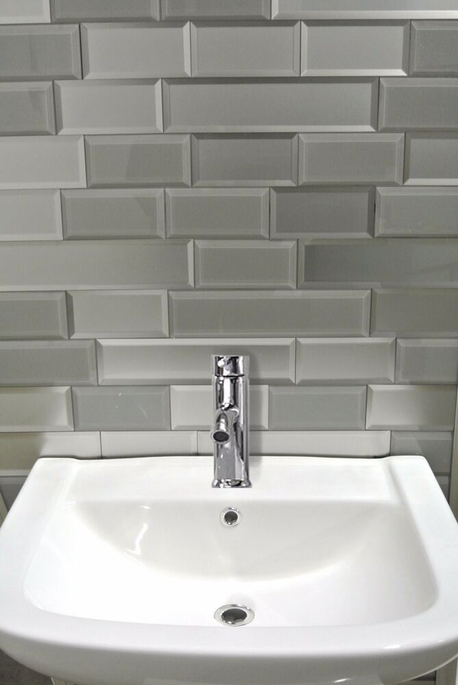 gray peel and stick tile kitchen bathroom wall backsplash subway tiles ebay. Black Bedroom Furniture Sets. Home Design Ideas