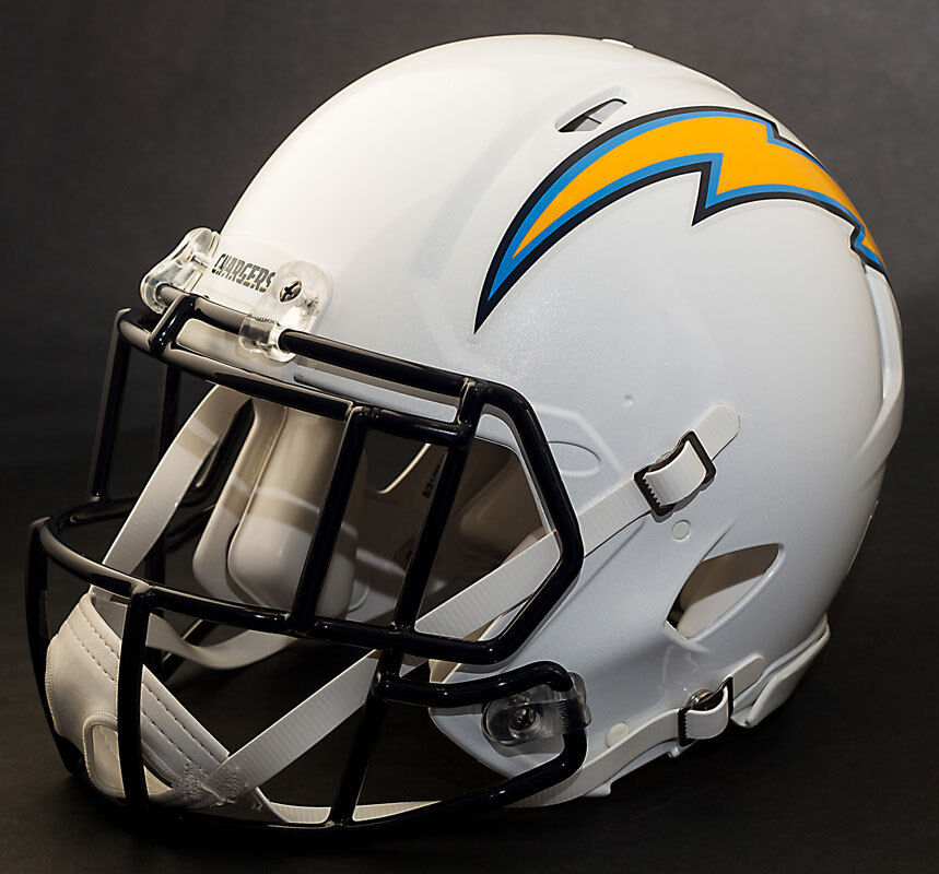 San Diego Chargers Helmet: ***CUSTOM*** SAN DIEGO CHARGERS NFL Riddell Full Size