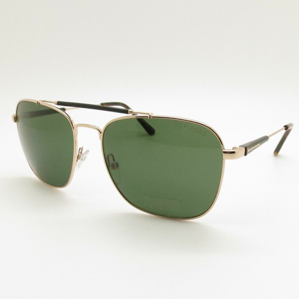 70ddf9b06d Details about Genuine Brand New Tom Ford Sunglasses TF 0377 377 28R  Gold Green Men