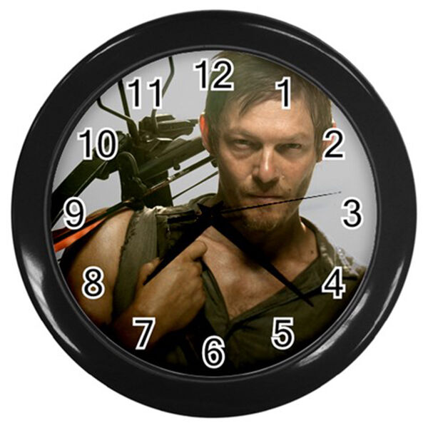 Modern large wall clock daryl dixon the walking dead - Leave you dead in the living room ...