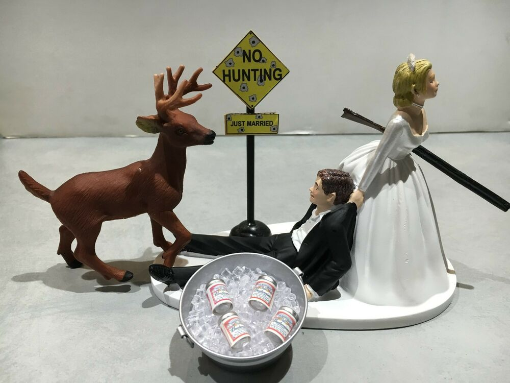 beer wedding cake topper hunt humor groom wedding cake topper 11259