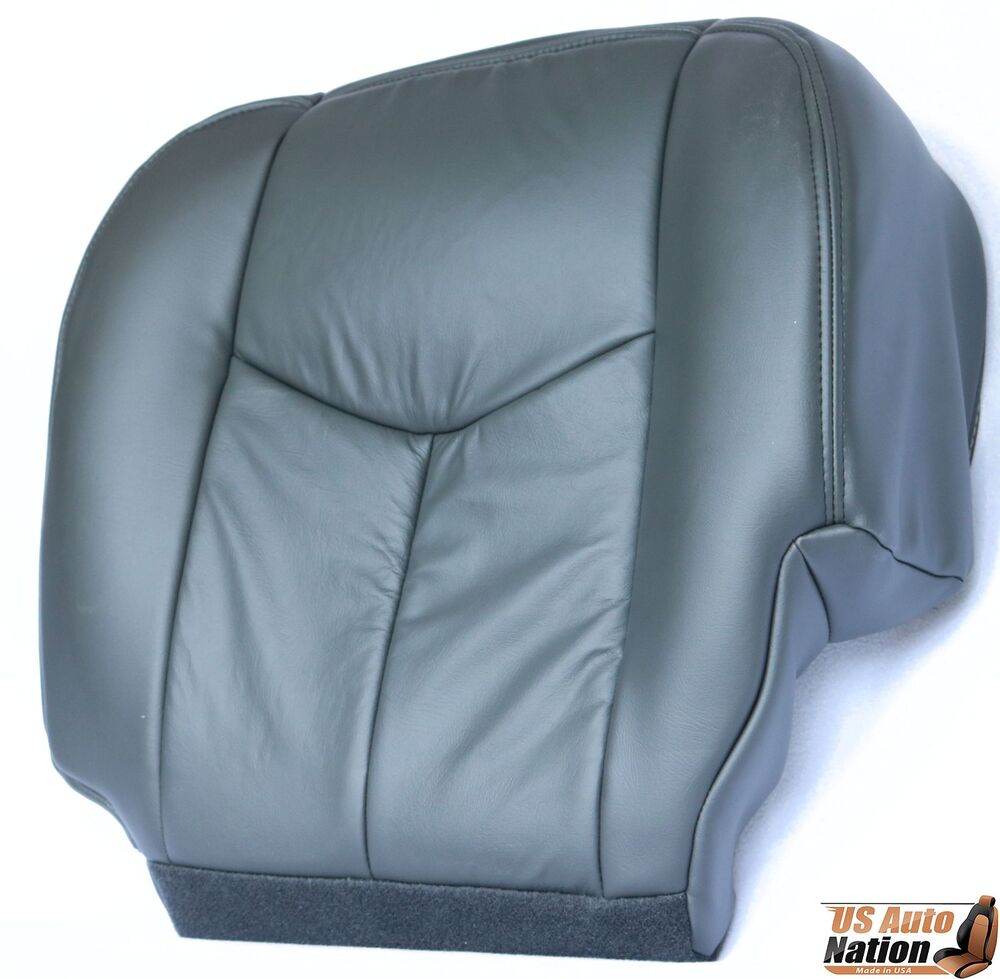 2005 2006 chevy silverado 1500 2500 driver synth leather seat cover dark gray ebay. Black Bedroom Furniture Sets. Home Design Ideas