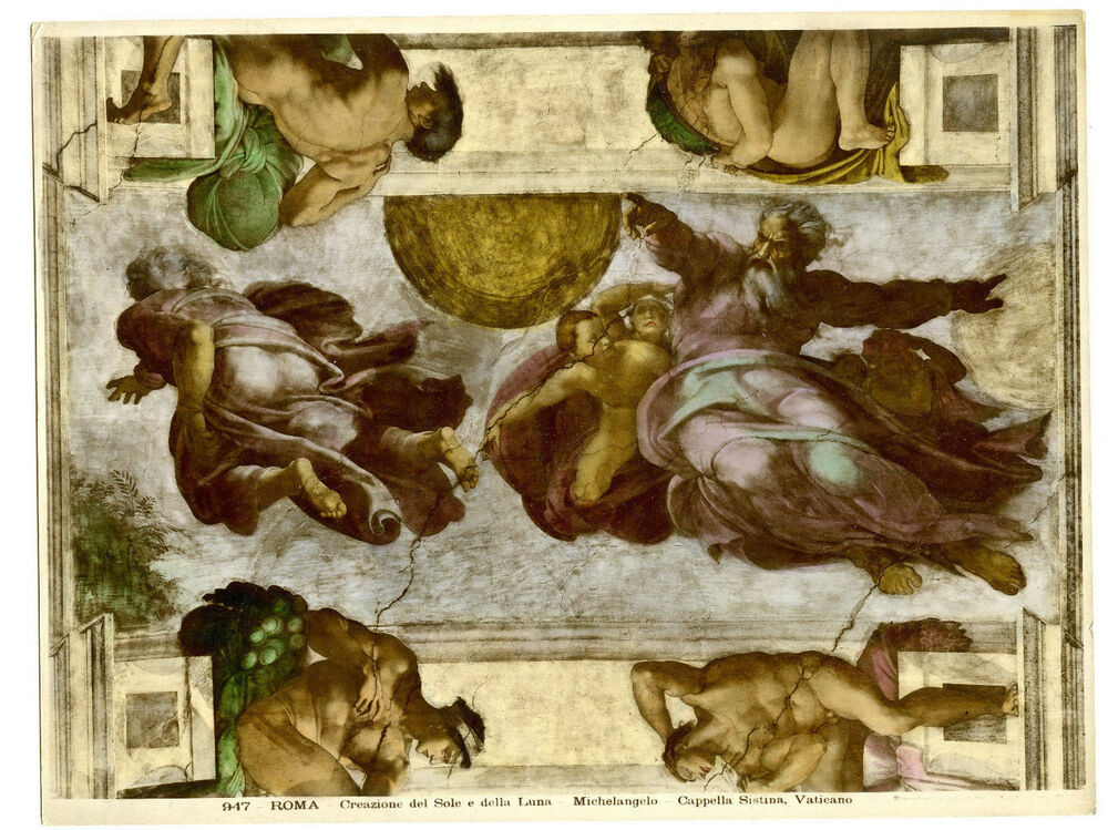 Vintage Photo Sistine Chapel Ceiling By Michelangelo Photos The Vatican