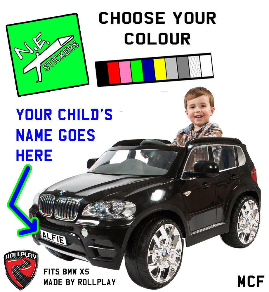 Personalised Front Number Plate For Kids Electric Bmw X5