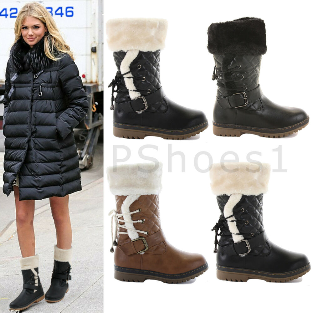 womens warm fur lined winter quilted waterproof