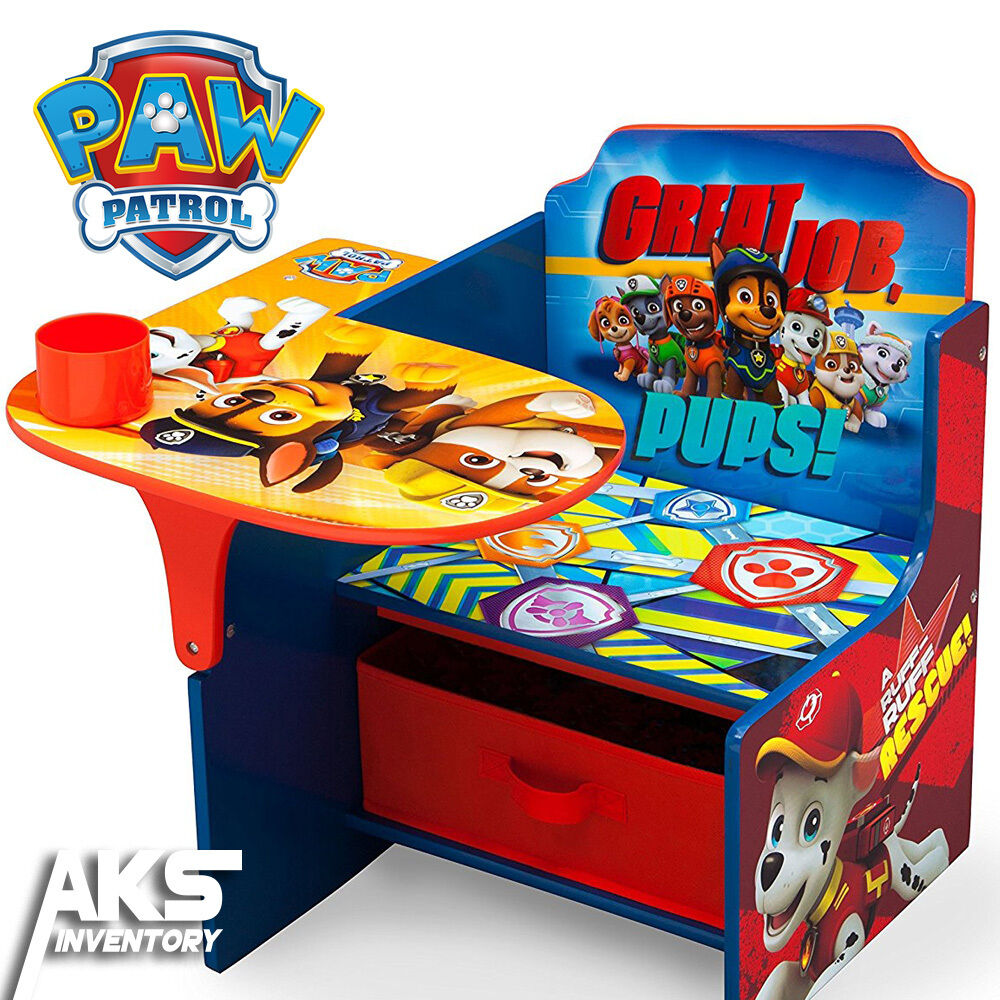 Paw Patrol Kids Toy Organizer Bin Children S Storage Box: PAW Patrol Chair Desk W/ Storage Bin Kids Children Toddler