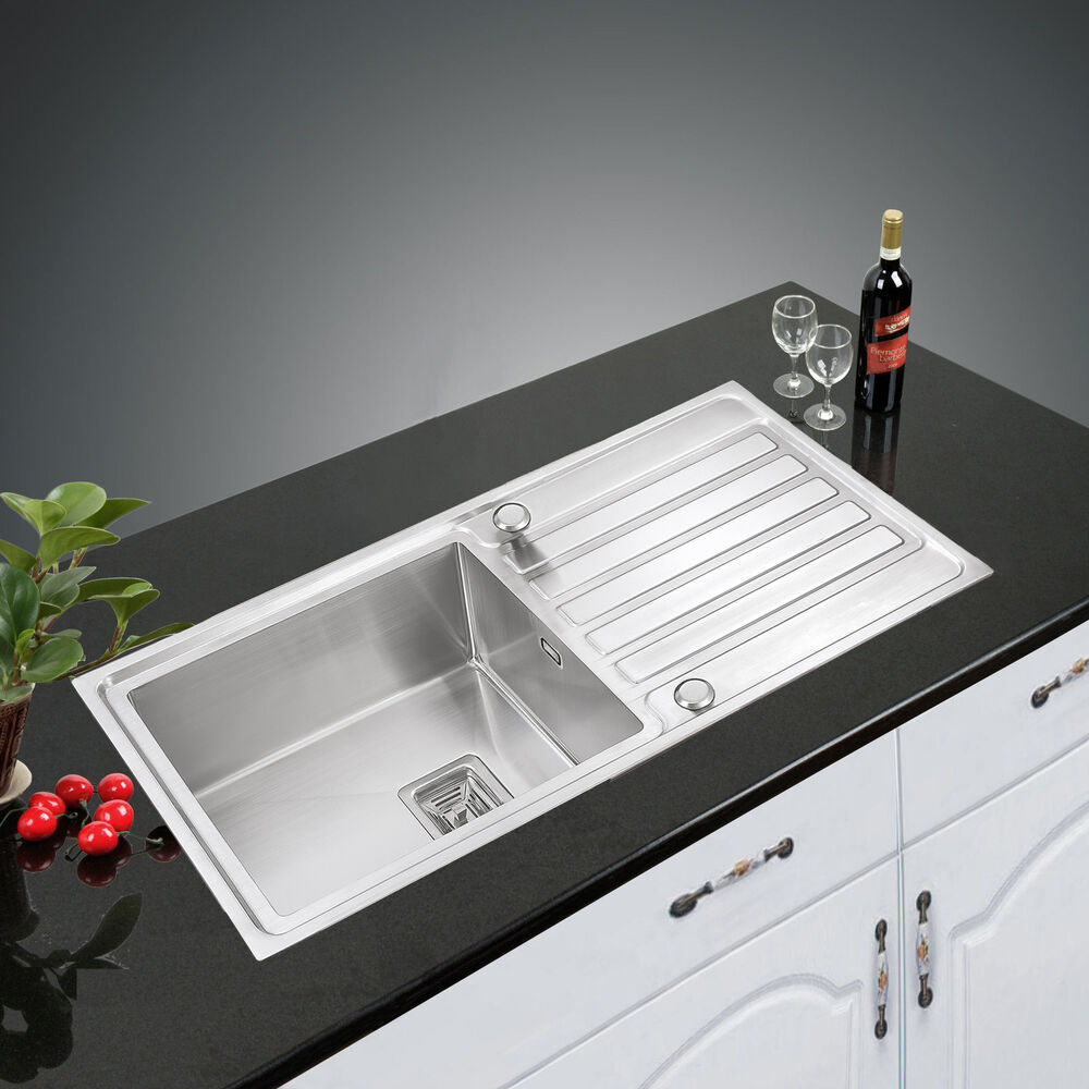 Highest Quality 304 1 0 Reversible Handmade Stainless Steel Sink Kitchen Tap Ebay