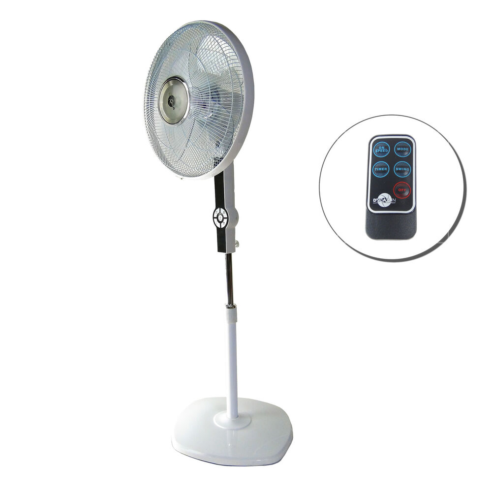 Electric Fan On A Stand : Quot pedestal oscillating stand fan electric tower dse rc w