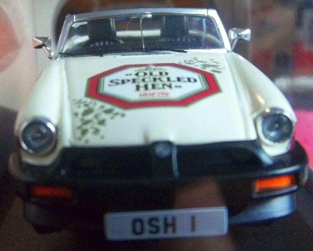 MG MGB 50 Years Old Speckled Hen 1:43 Collector Car Rubber