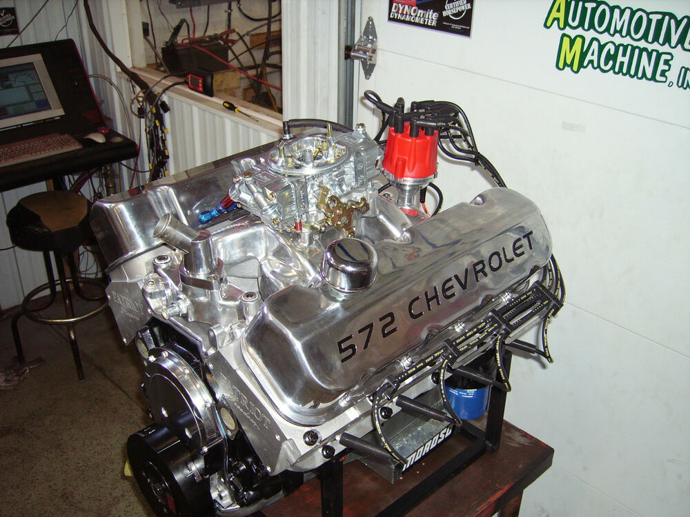 Bbc 572 chevrolet chevy turn key engine 720 hp 572 cubic for Engine motors for sale