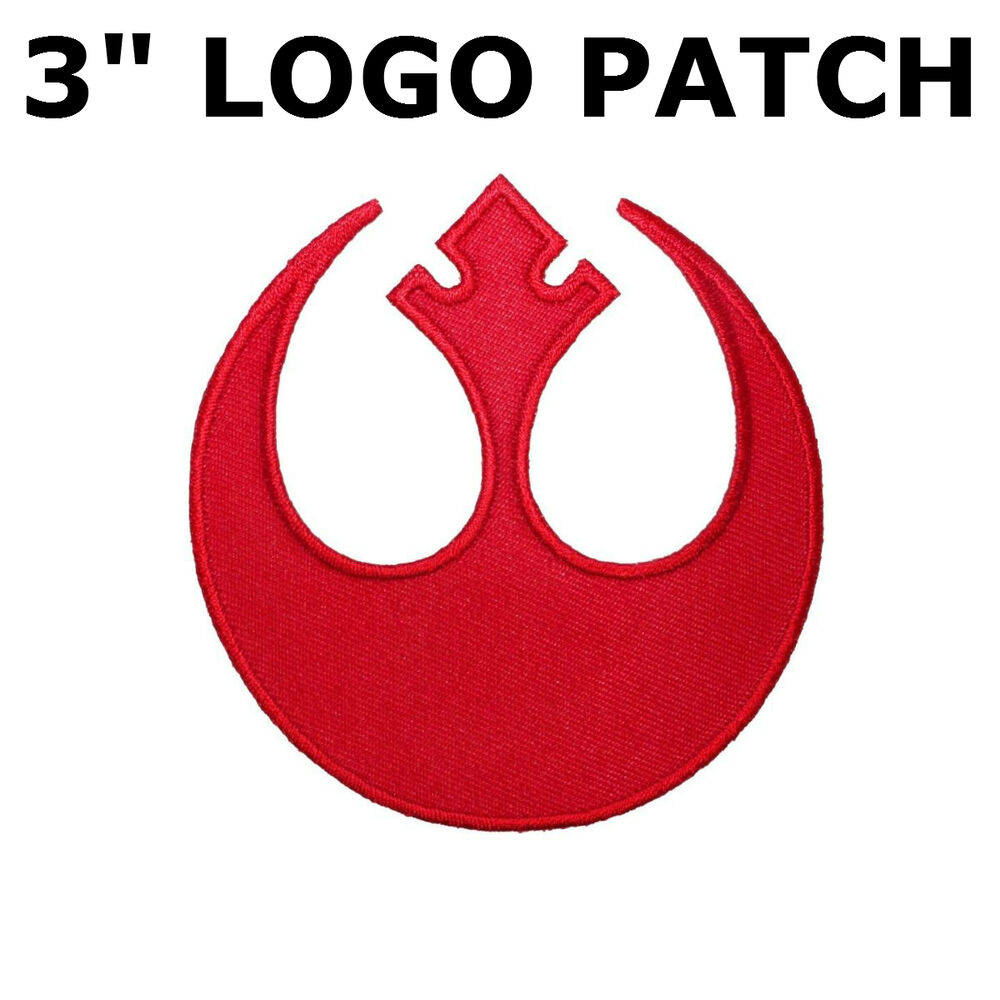 Star Wars Rebel Alliance Logo Rogue Squadron Red Embroidered