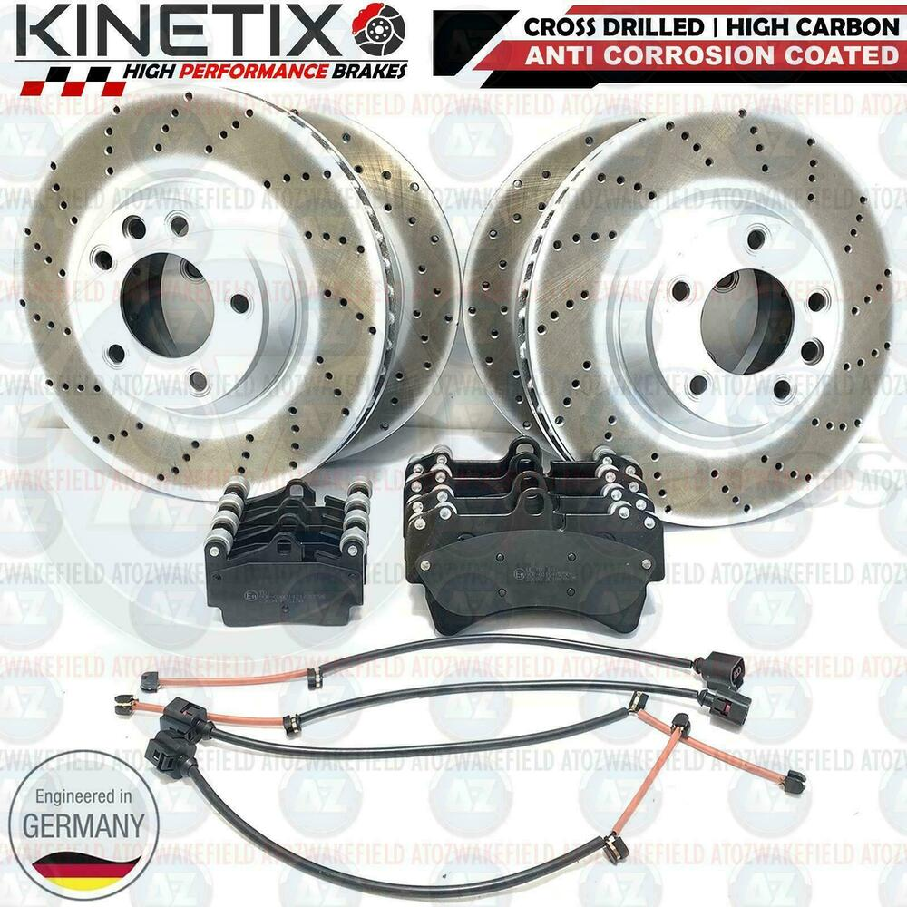 Audi Q7 Brakes: FOR AUDI Q7 FRONT REAR CROSS DRILLED BRAKE DISCS BRAKE