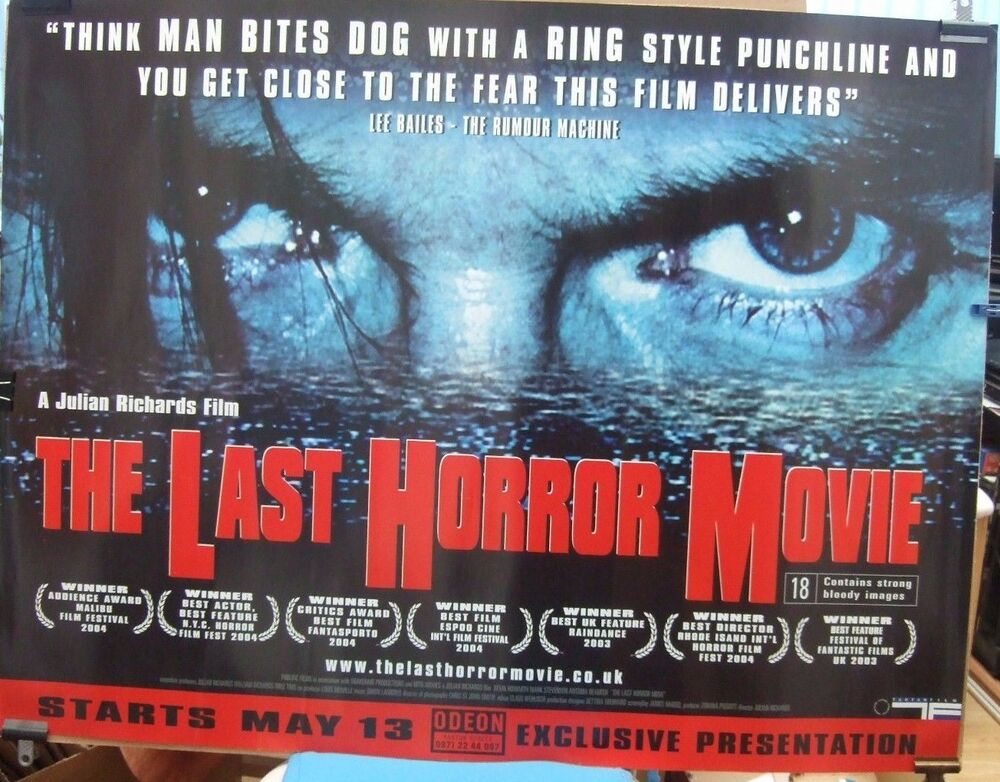 Movie Posters 2003: THE LAST HORROR MOVIE(2003) Original Rolled UK Quad Movie