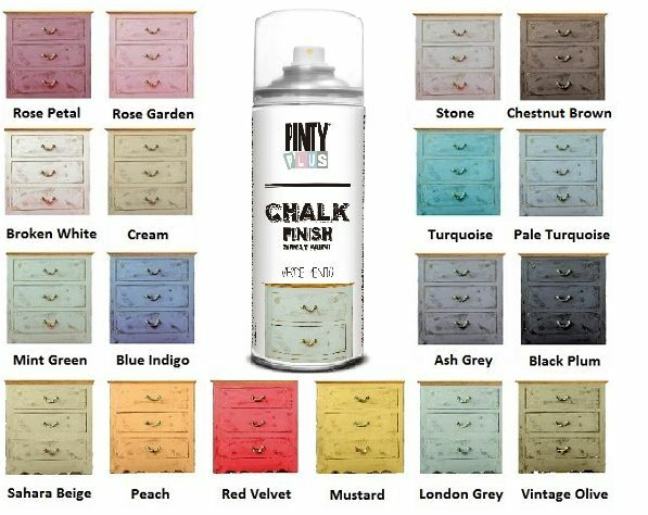 new chalk paint spray water based 19 elegant colours professional finish ebay. Black Bedroom Furniture Sets. Home Design Ideas