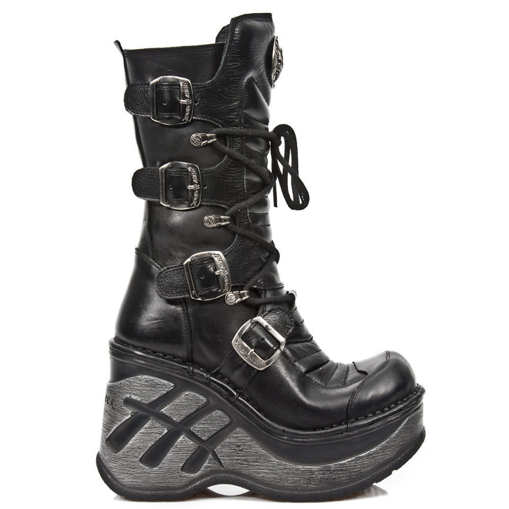 7d8a16bef19 Details about NEWROCK SP9873-S1 BLACK LADIES TRAIL GOTHIC CLASSIC ROCK PUNK  SEXY LEATHER BOOTS