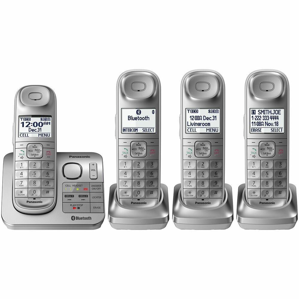 panasonic kx tg674sk bluetooth link2cell dect 6 0 digital cordless phone system 885170283916 ebay. Black Bedroom Furniture Sets. Home Design Ideas