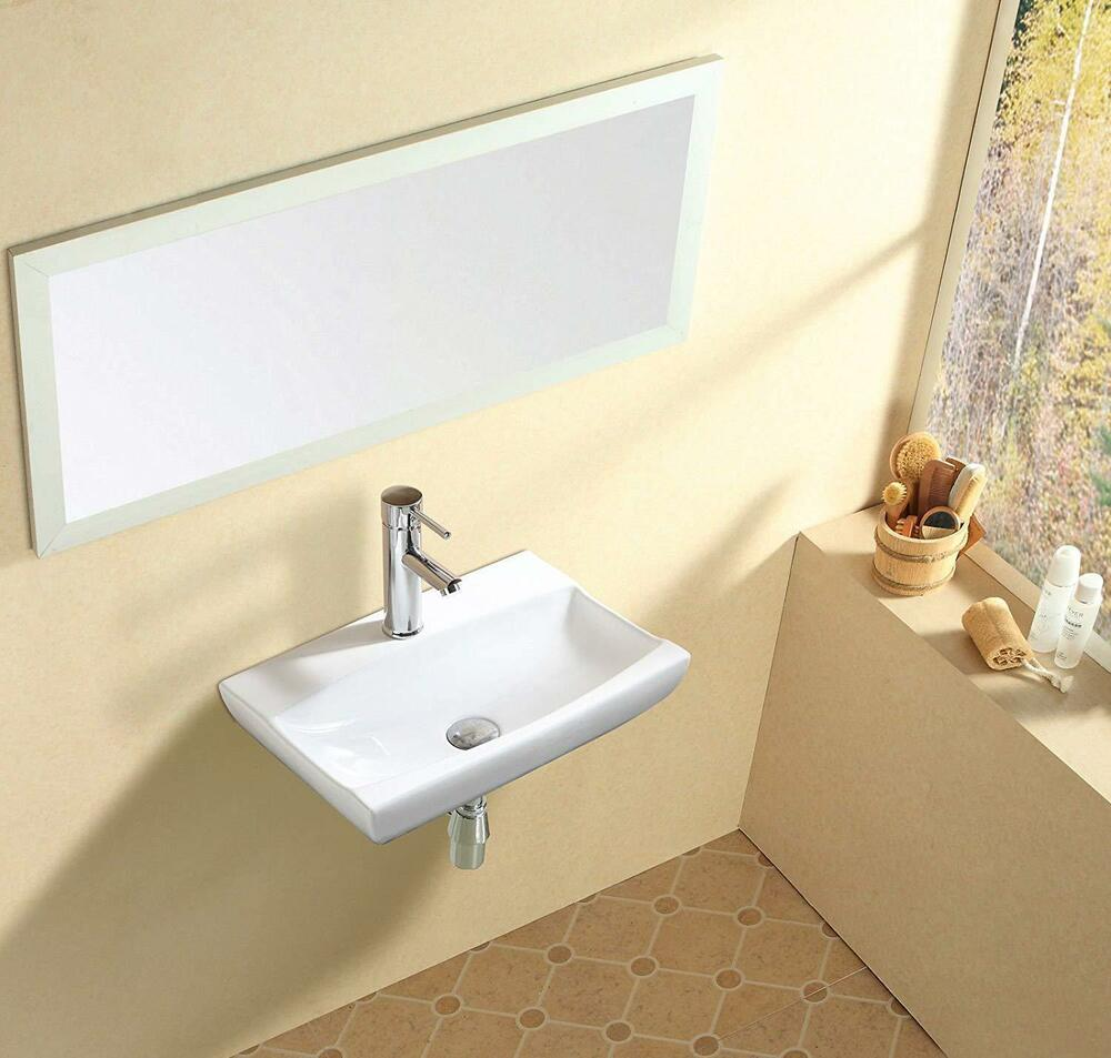 New design rectangle counter top basin sink unit ceramic for Latest bathroom sink designs
